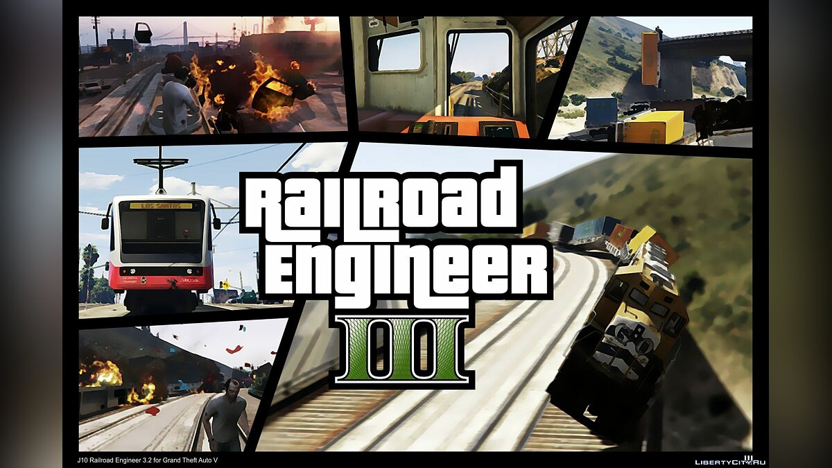 Railroad Engineer 3.2 для GTA 5