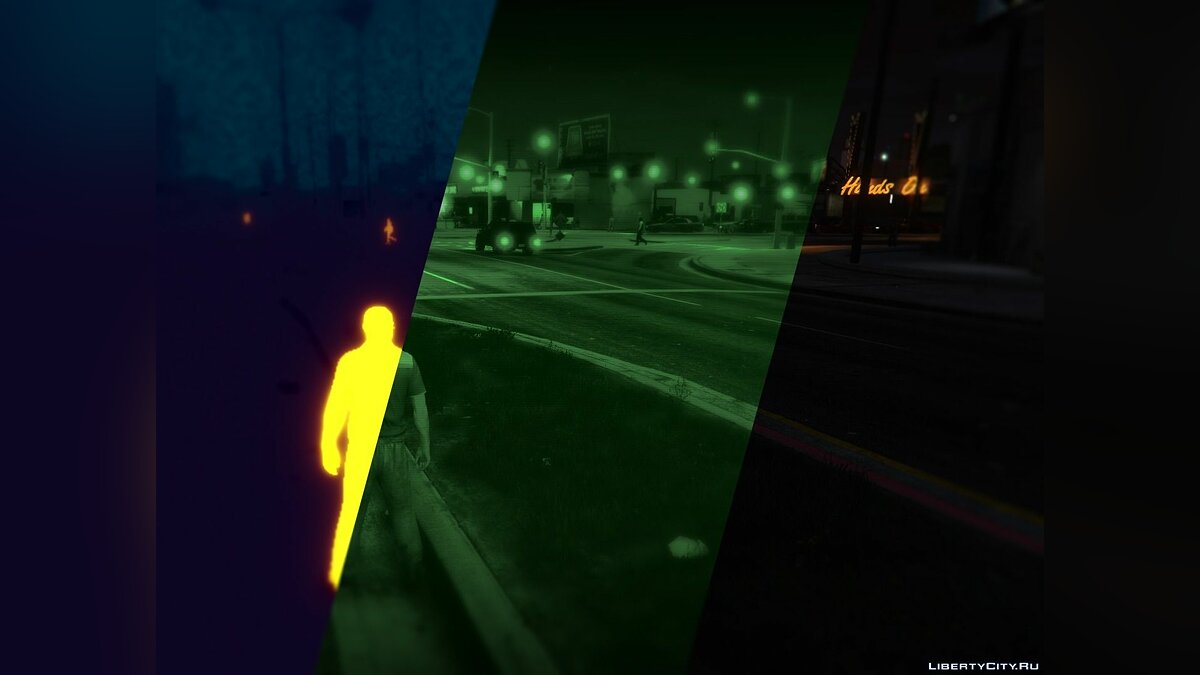 Night/Thermal Vision 1.1 для GTA 5