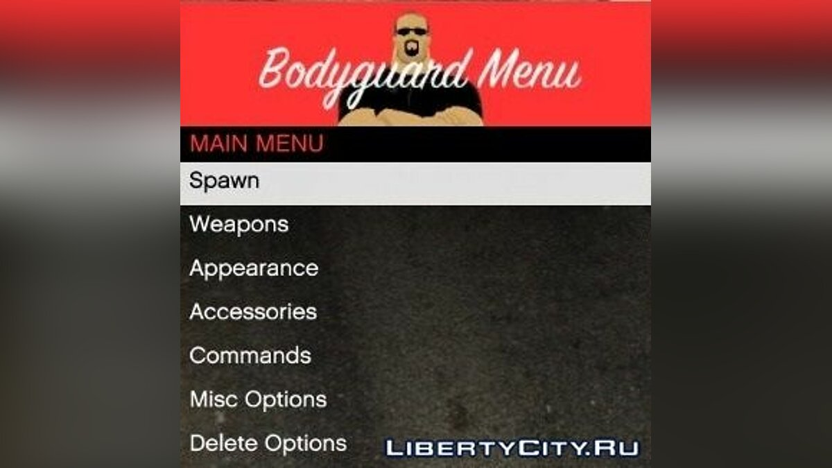 Bodyguard Menu 1.7 для GTA 5