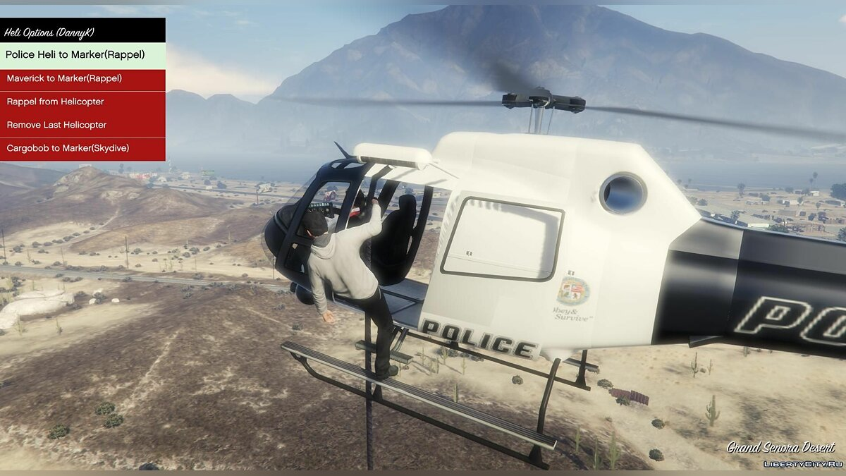 Авиатакси / Airtaxi + Helicopter Rappel mod v2.02 для GTA 5