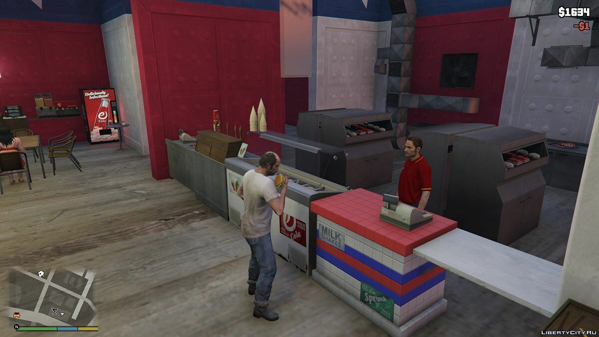 Working Burger Shot 1.1 для GTA 5 - скриншот #5