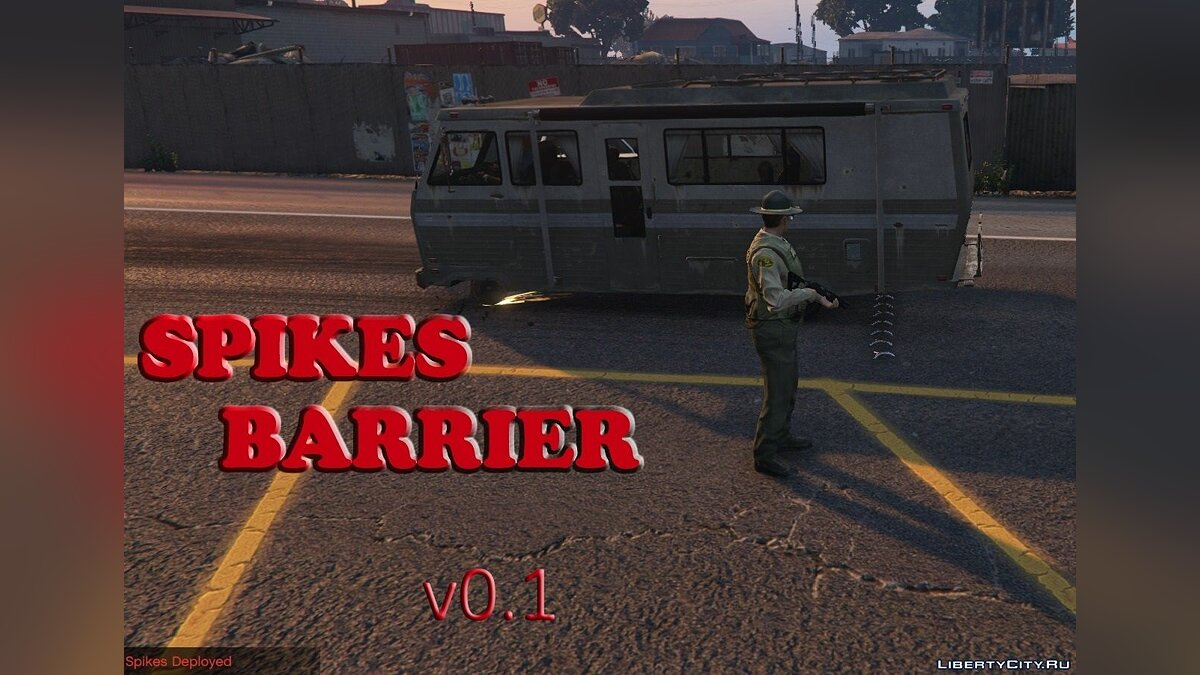 Spikes Barrier [RagePluginHook] 0.2 для GTA 5