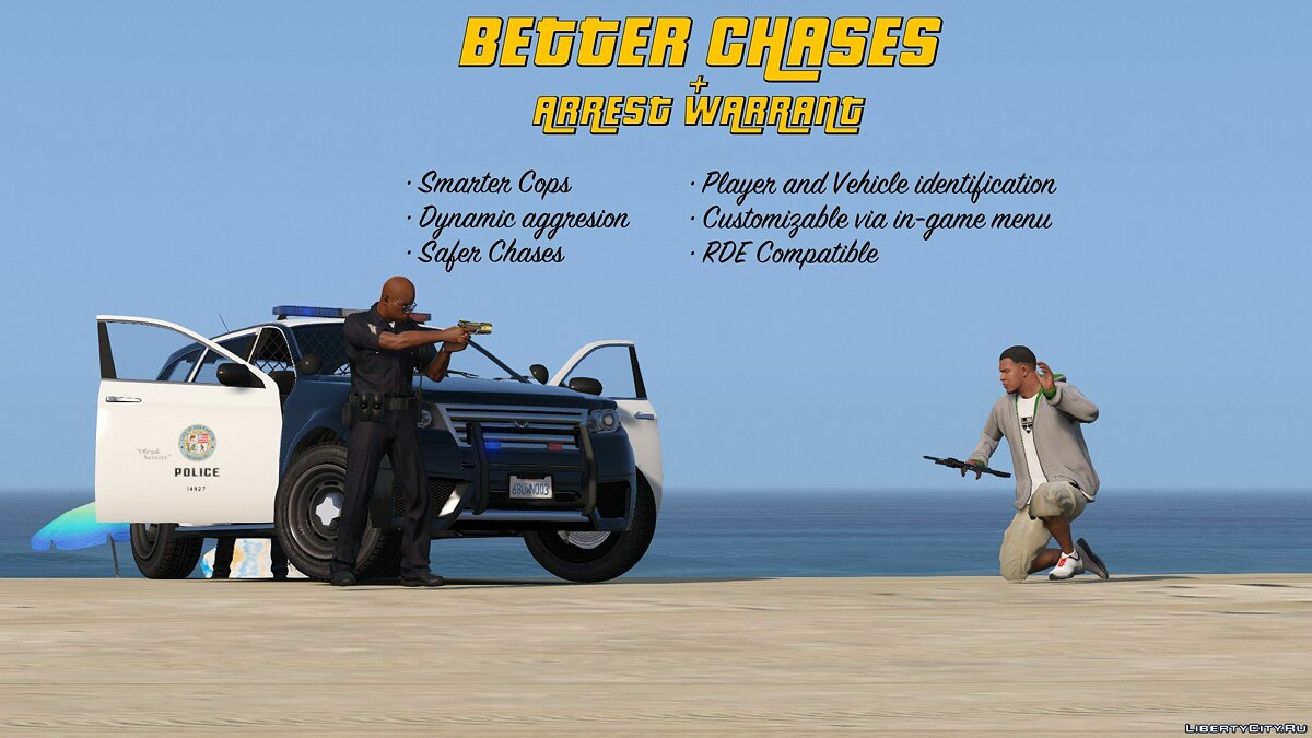 Скриптовый мод Better Chases + Arrest Warrant 1.2b для GTA 5