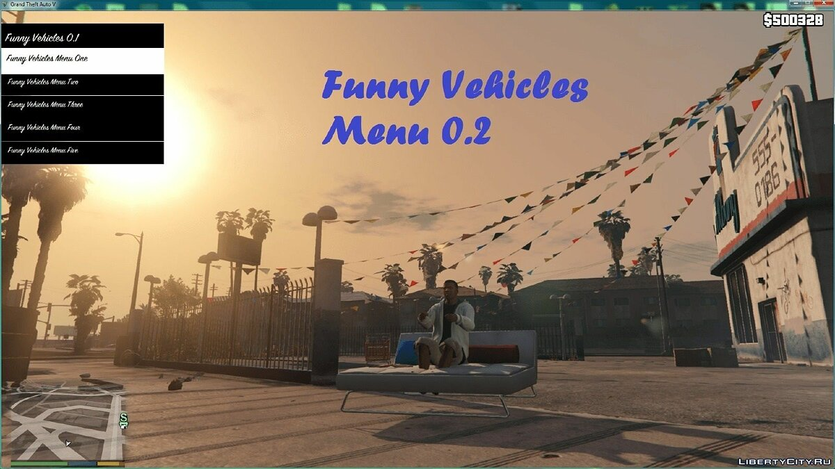 Funny Vehicle Menu 0.2 для GTA 5