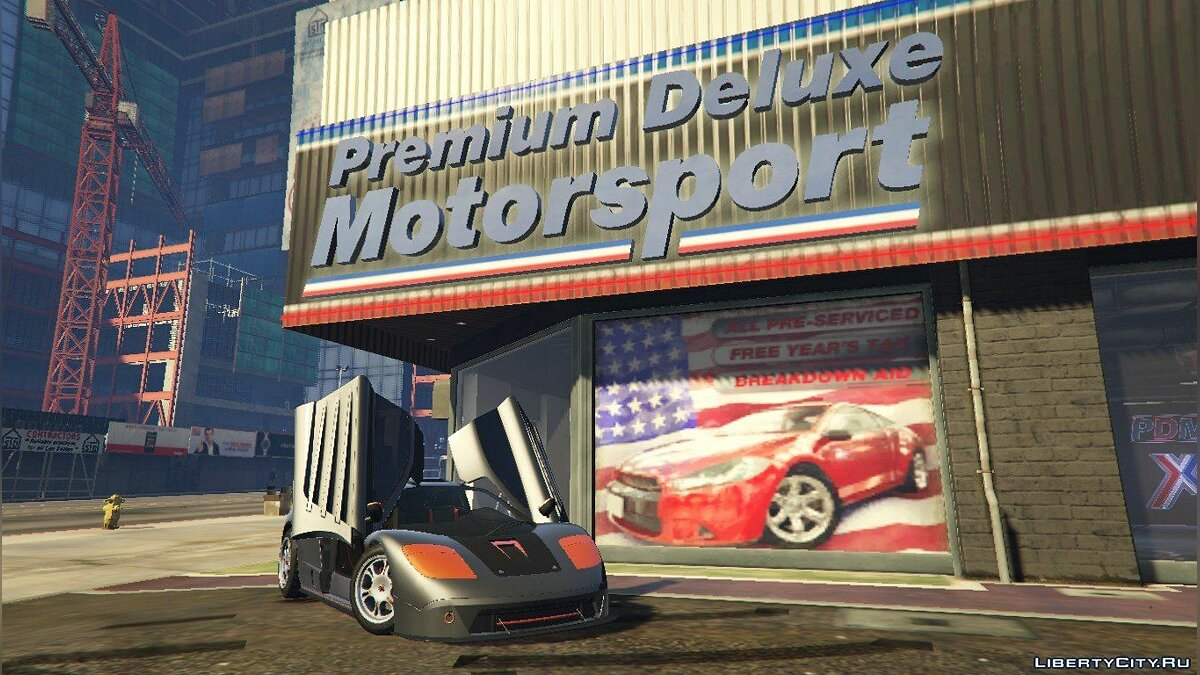 ��криптовый мод Premium Deluxe Motorsport Car Dealership 4.2.1 для GTA 5