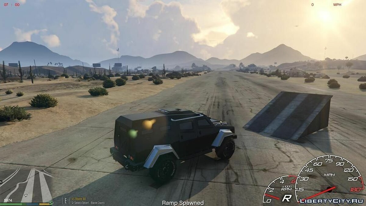 Simple Ramp Spawner With Speed Boost 0.3 для GTA 5