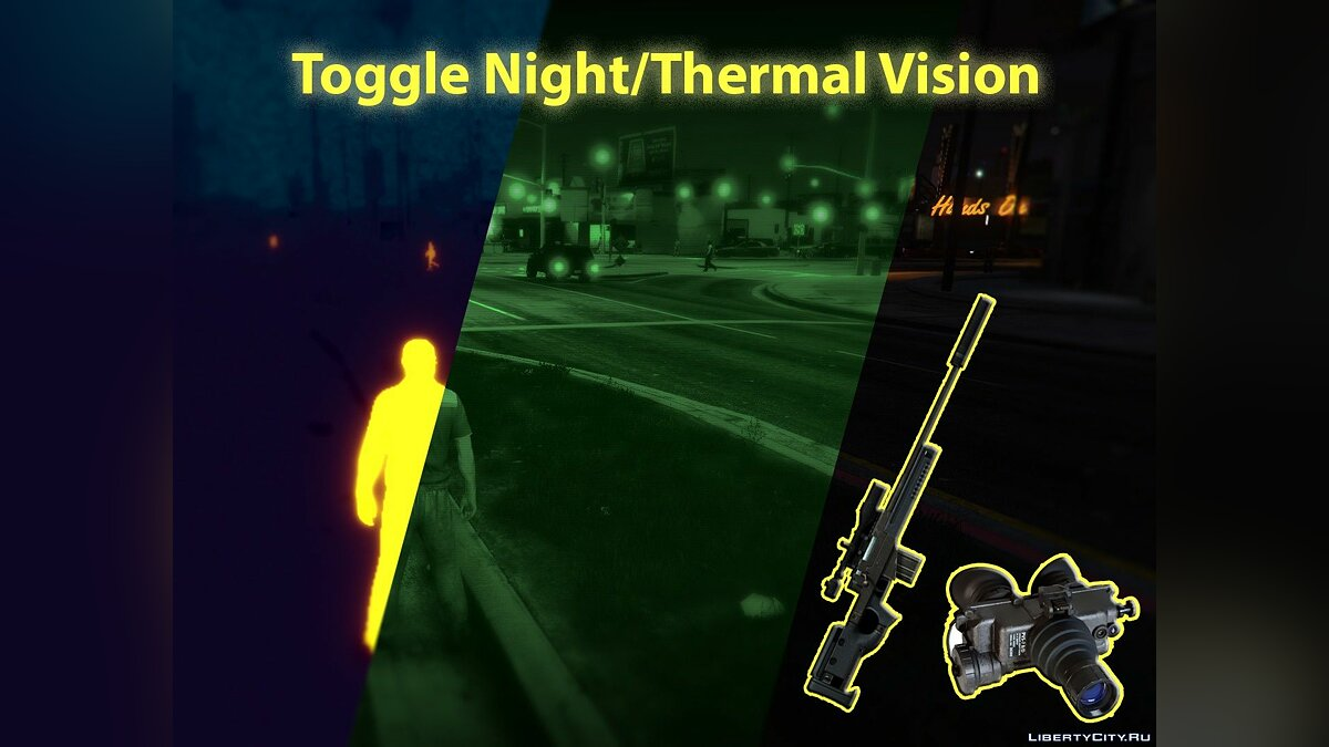 Night/Thermal Vision 1.3.3 для GTA 5