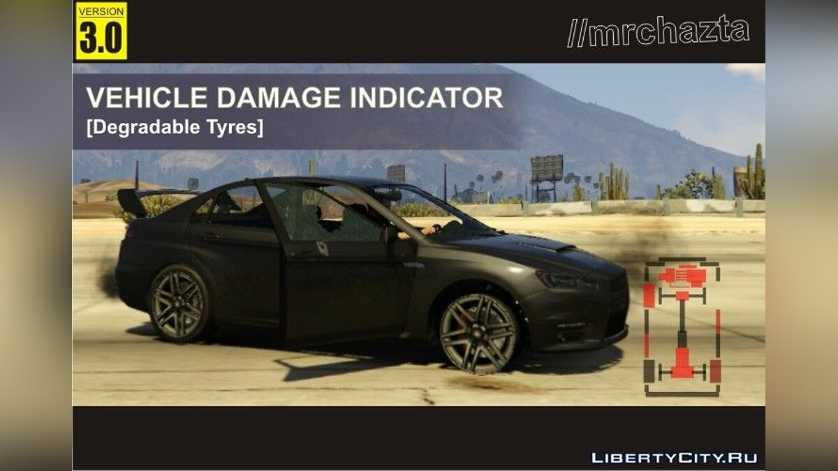 Car Damage Indicator [Degradable Tyres] 3.0 для GTA 5