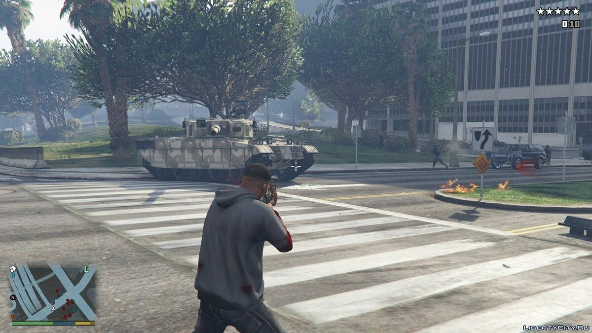 Tanks Spawn at Five Stars для GTA 5