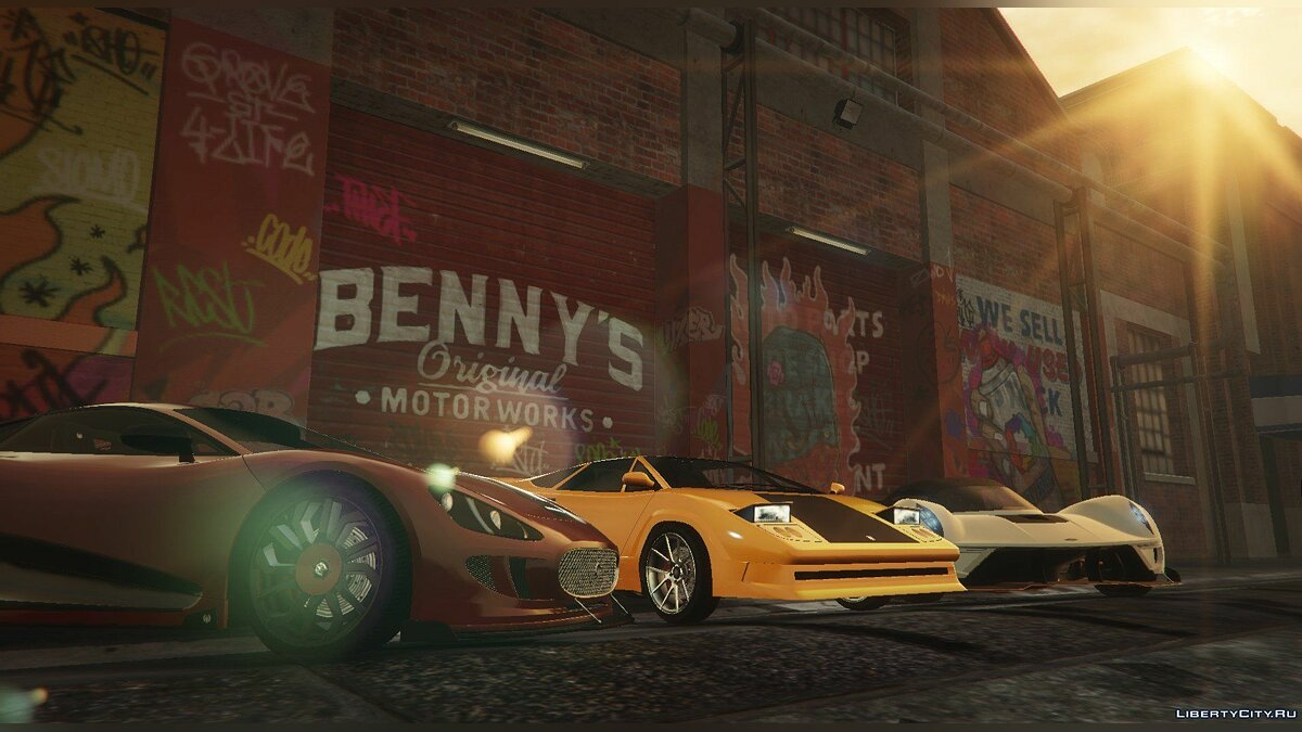 ��криптовый мод New Benny's Original Motor Works in SP 1.5.4 для GTA 5