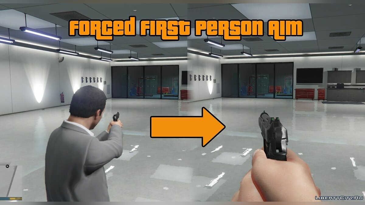 Forced First Person Aim 1.0.6 для GTA 5