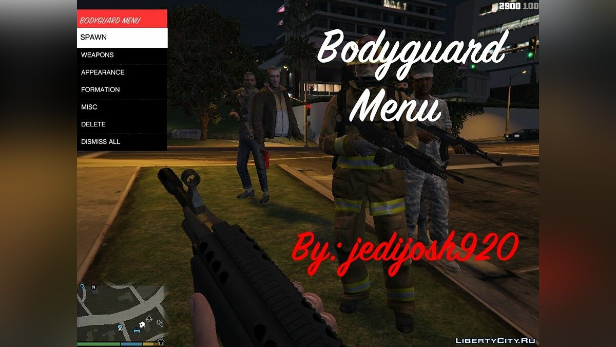 Bodyguard Menu 1.0 для GTA 5