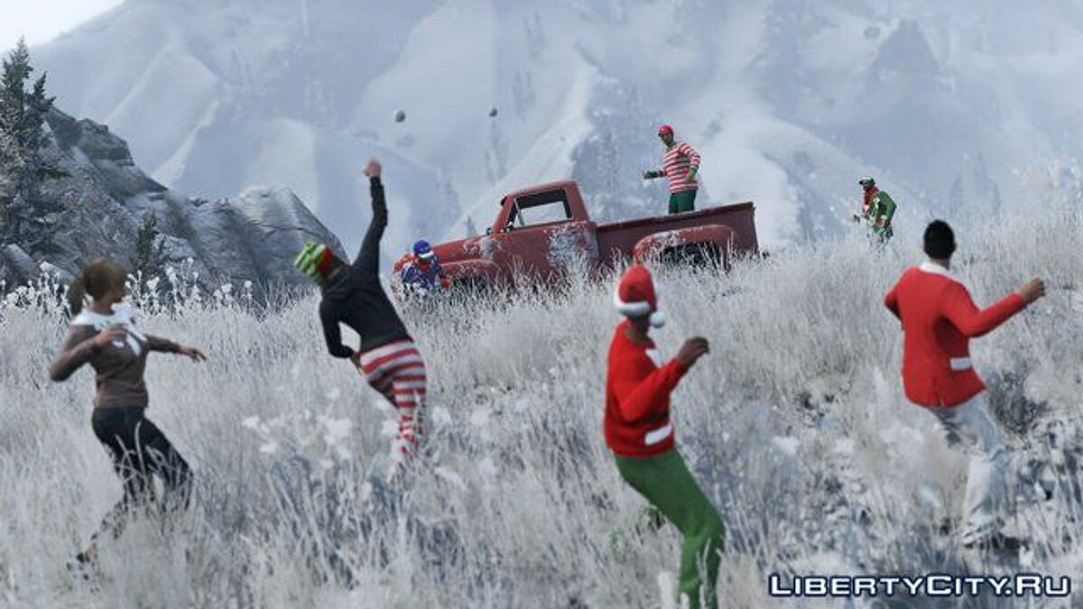 Snowballs in Singleplayer для GTA 5