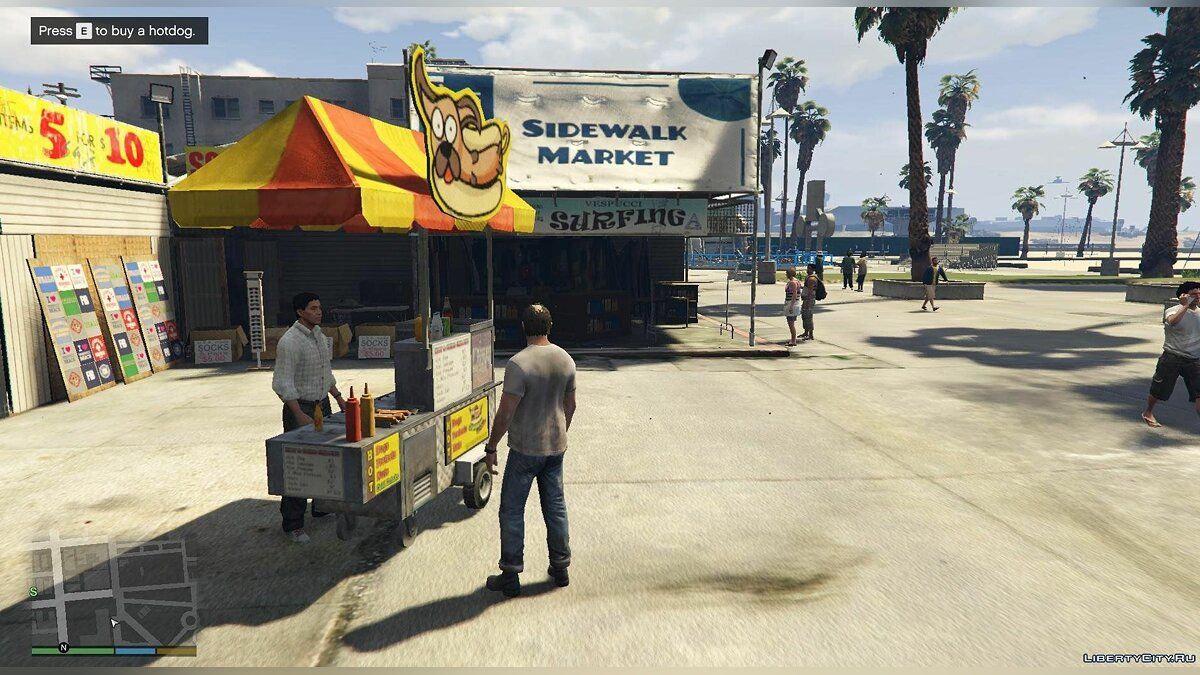 Working Hotdog Vendors для GTA 5