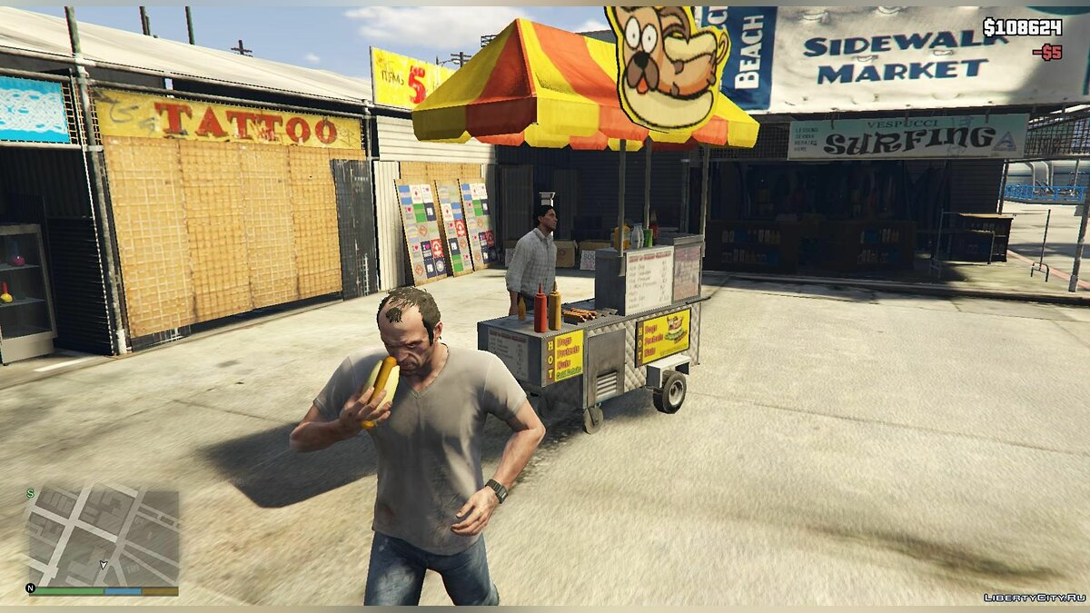 Working Hotdog Vendors для GTA 5 - скриншот #2