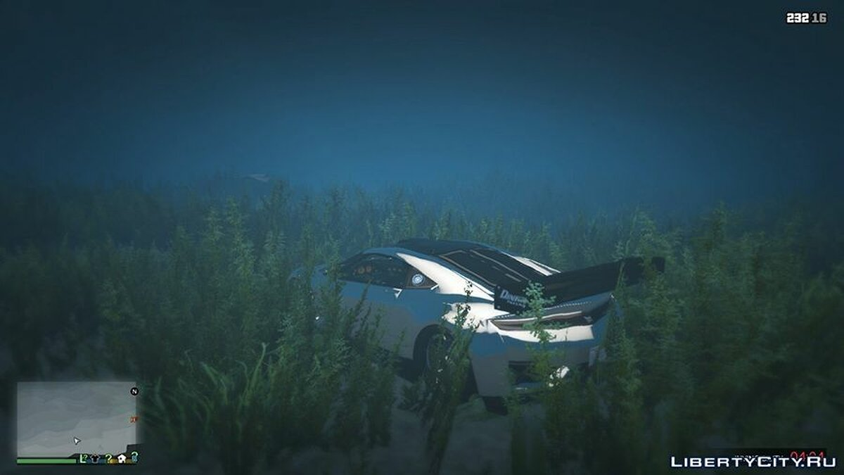 Sticky/Underwater Cars для GTA 5