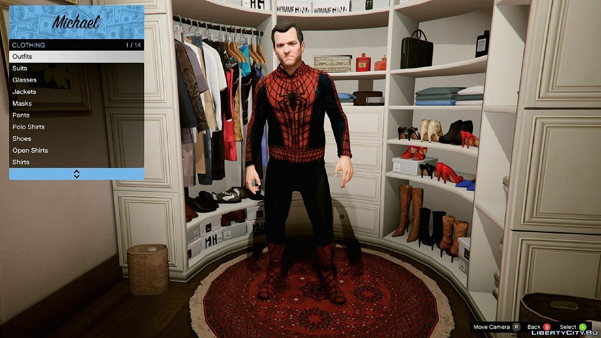 Сборник скинов HQ Spider-Man - Costume Replica Pack 1.1 для GTA 5