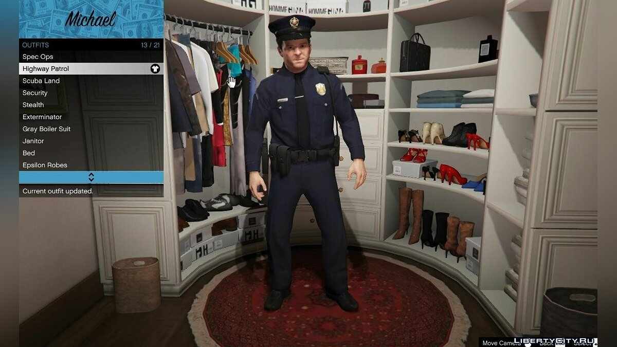 Michael LSPD Uniform для GTA 5 - Картинка #1