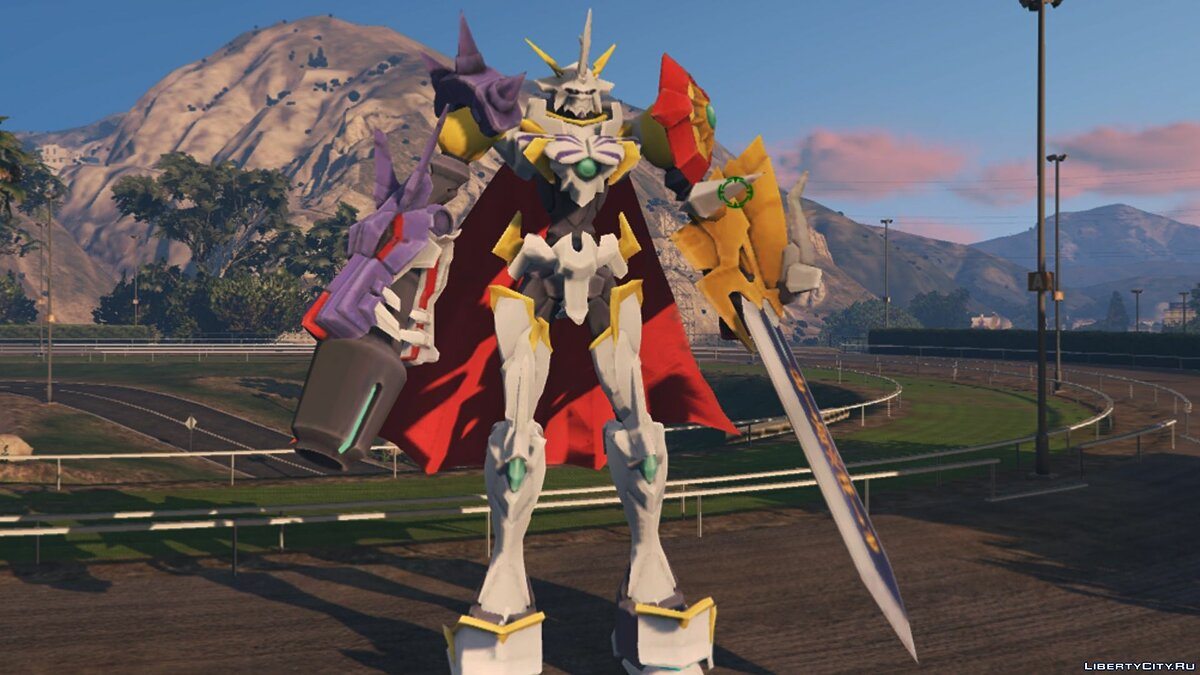 Сборник скинов Omegamon (Digimon) [BIG Add-On Ped] 1.3 для GTA 5
