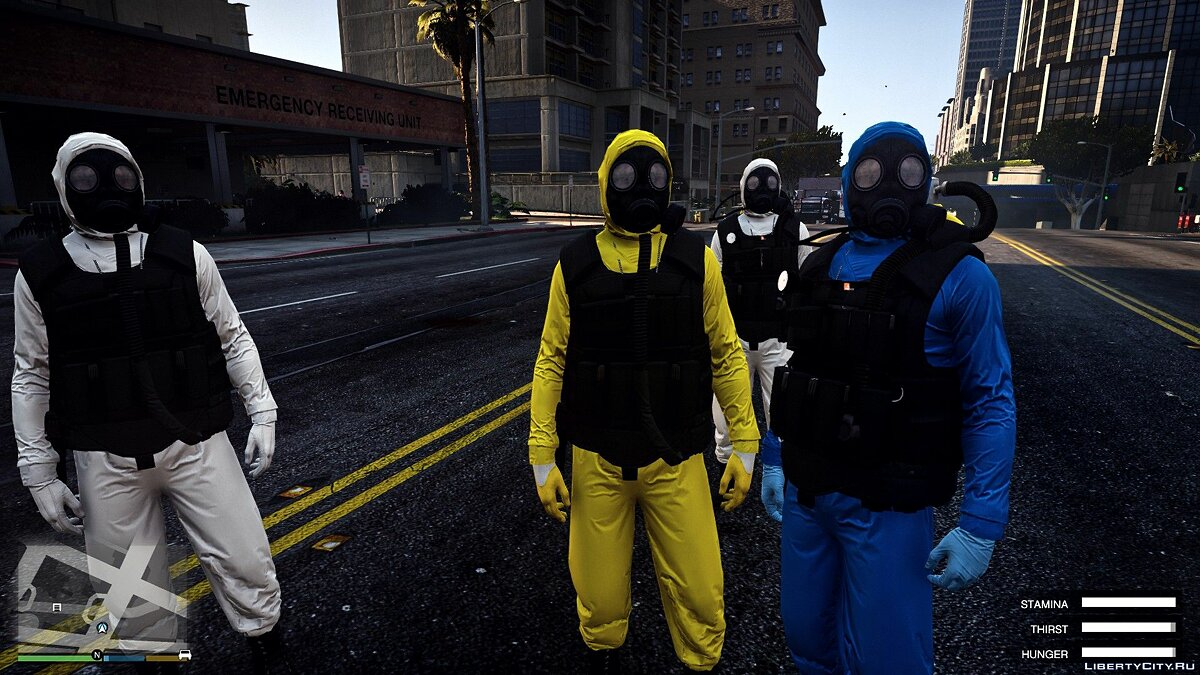 ��борник скинов Hazmat [Add-On PACK] 1.0 для GTA 5