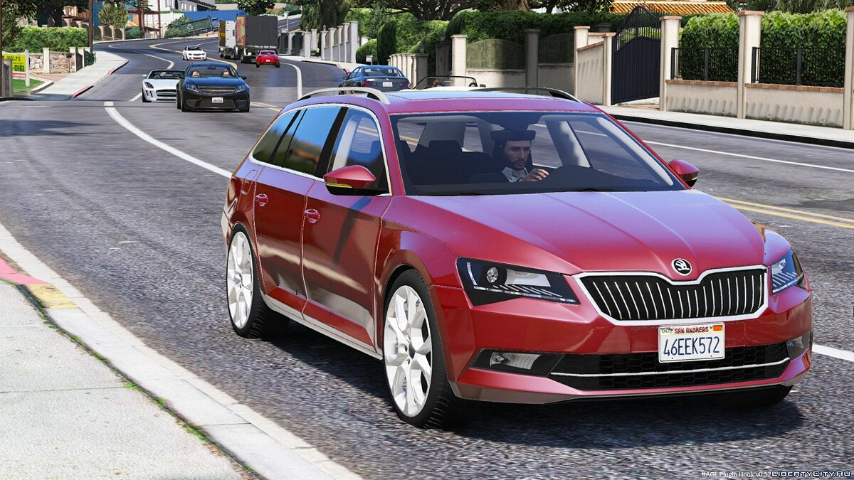 Машина Skoda 2016 Škoda SuperB Combi [Replace] 1.0 для GTA 5