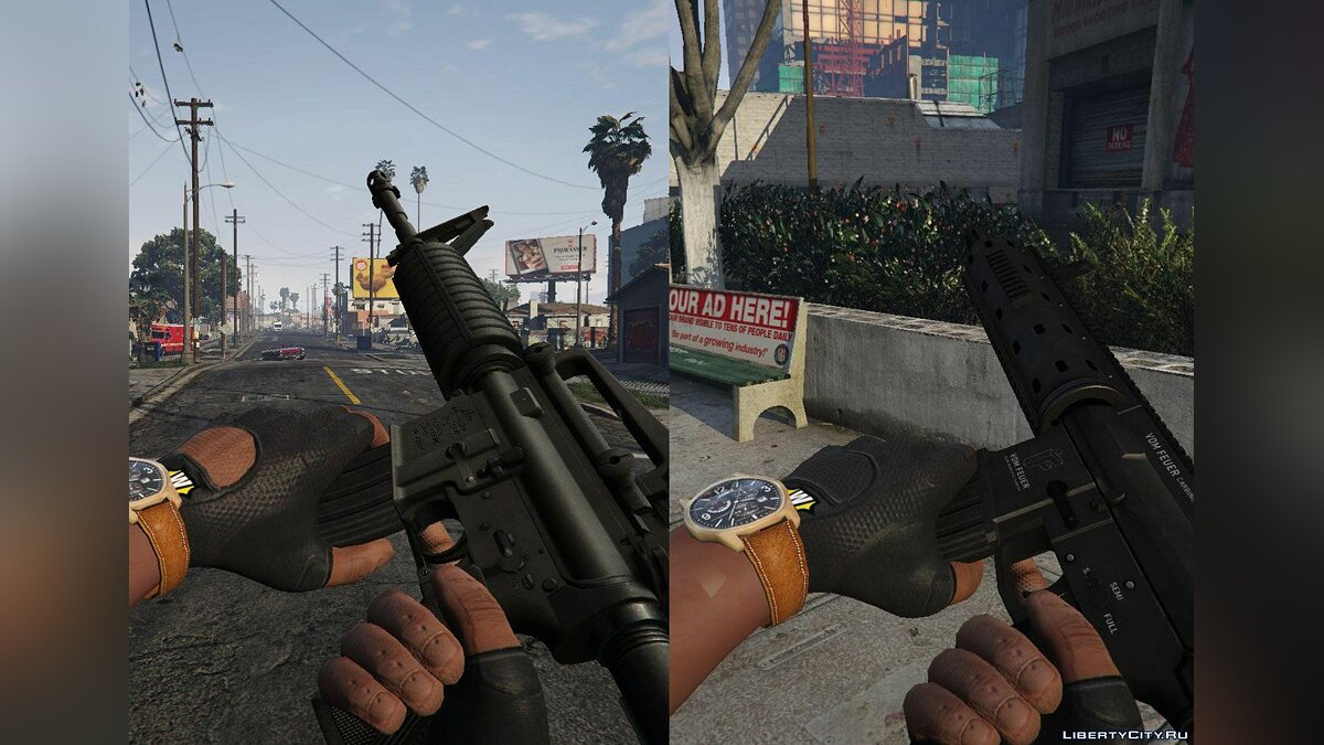 Скин Fingerless Black Gloves для GTA 5