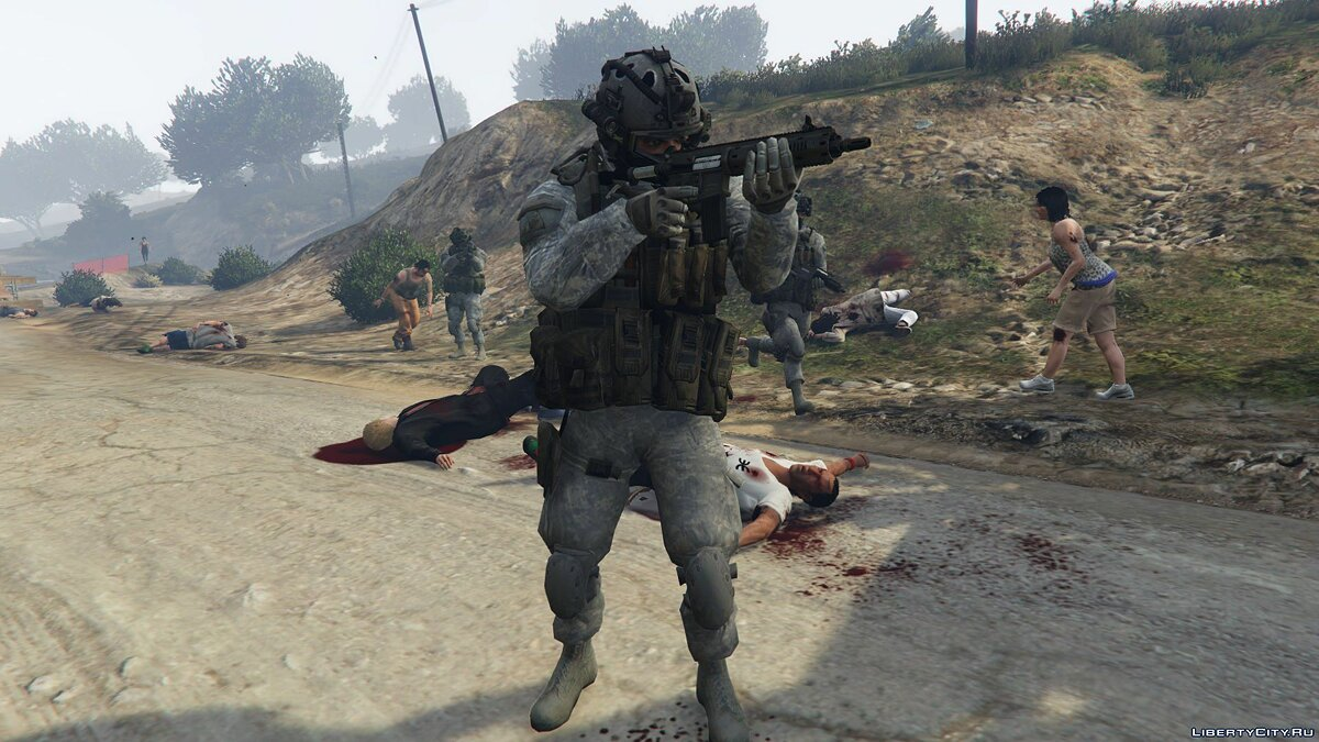 Скин U.S. Army Rangers Skin For Shadow Company 1.0 для GTA 5