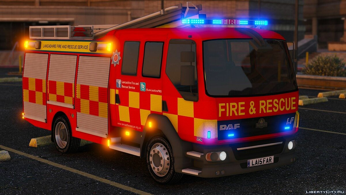 Lancashire Fire & Rescue Fire Appliance для GTA 5