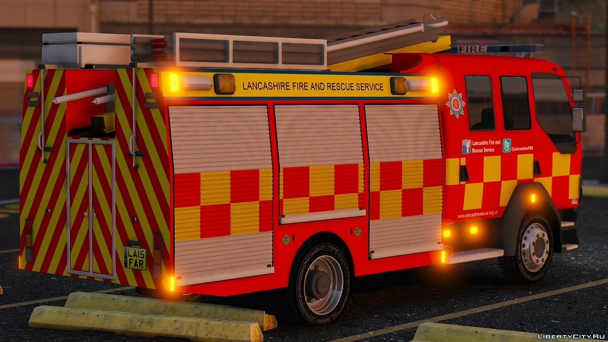 Lancashire Fire & Rescue Fire Appliance для GTA 5 - скриншот #2