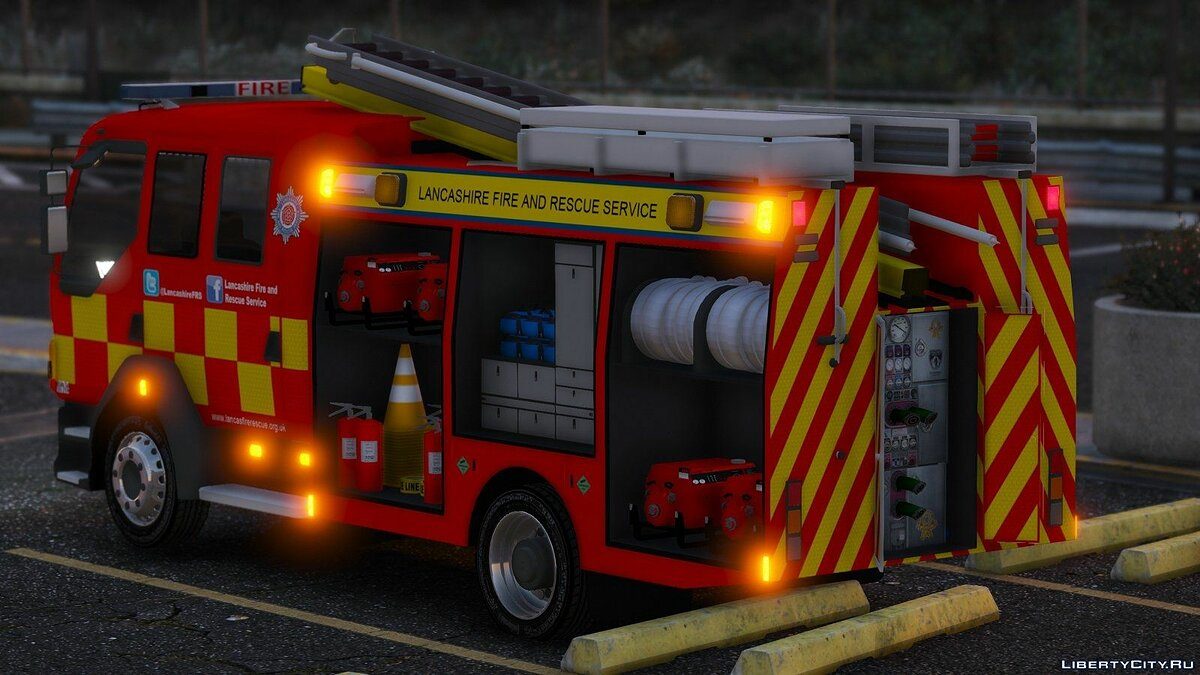 Lancashire Fire & Rescue Fire Appliance для GTA 5 - скриншот #3