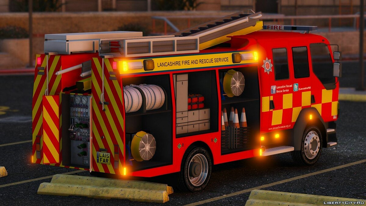 Lancashire Fire & Rescue Fire Appliance для GTA 5 - скриншот #4