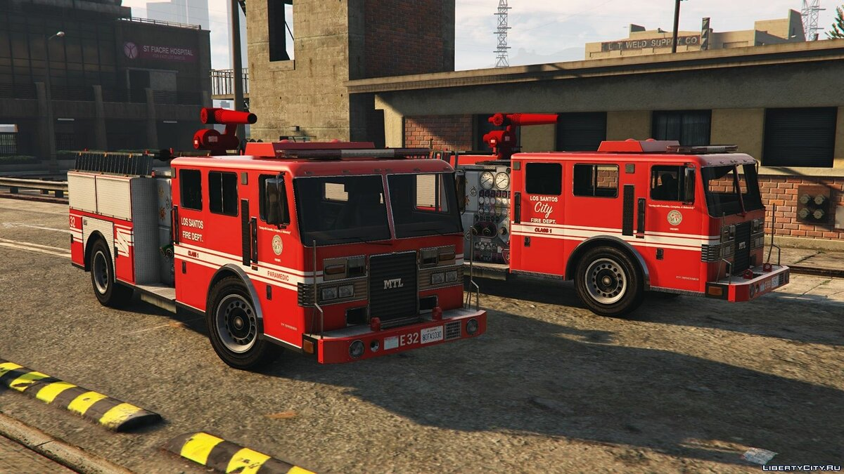Машина MTL Fire Truck - Mapped [Replace | Liveries] 1.0 для GTA 5