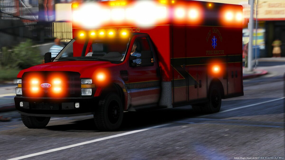 LSFD Ford F350 Ambulance для GTA 5