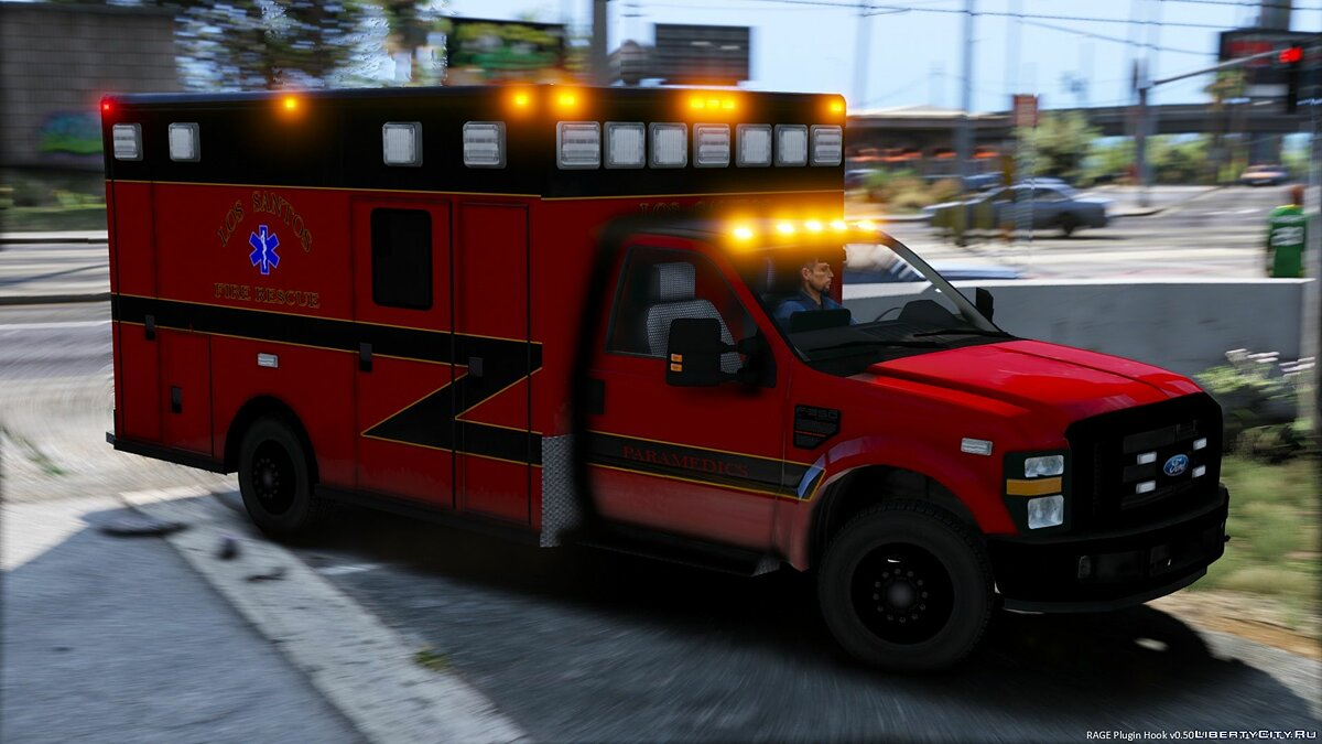LSFD Ford F350 Ambulance для GTA 5 - скриншот #3