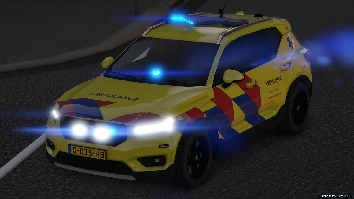 Машина Volvo XC40 Ambulance [Replace/ELS] для GTA 5