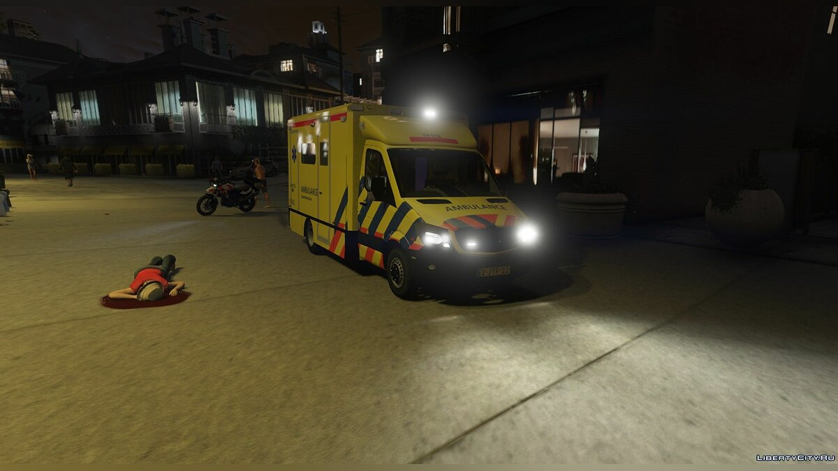 ��ашина Dutch Mercedes Facelift Ambulance [ELS] 1.0 для GTA 5