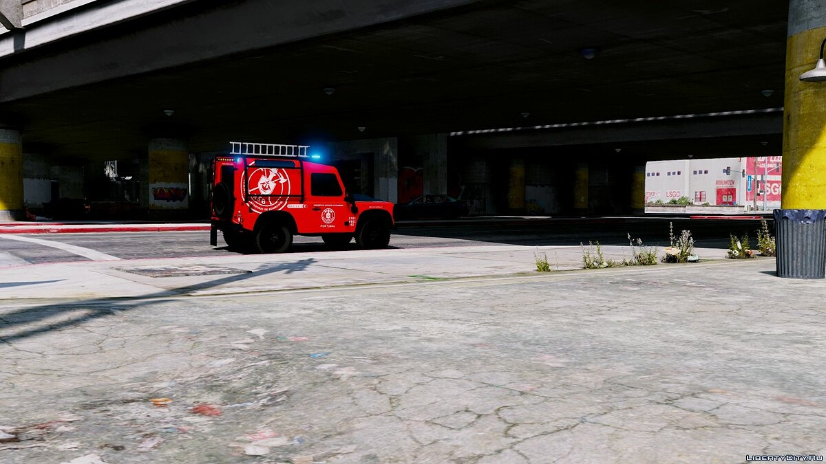 Portuguese Fire Bricade Regiment - VECI - Land Rover Defender [Add-On] 1.0 для GTA 5 - скриншот #6