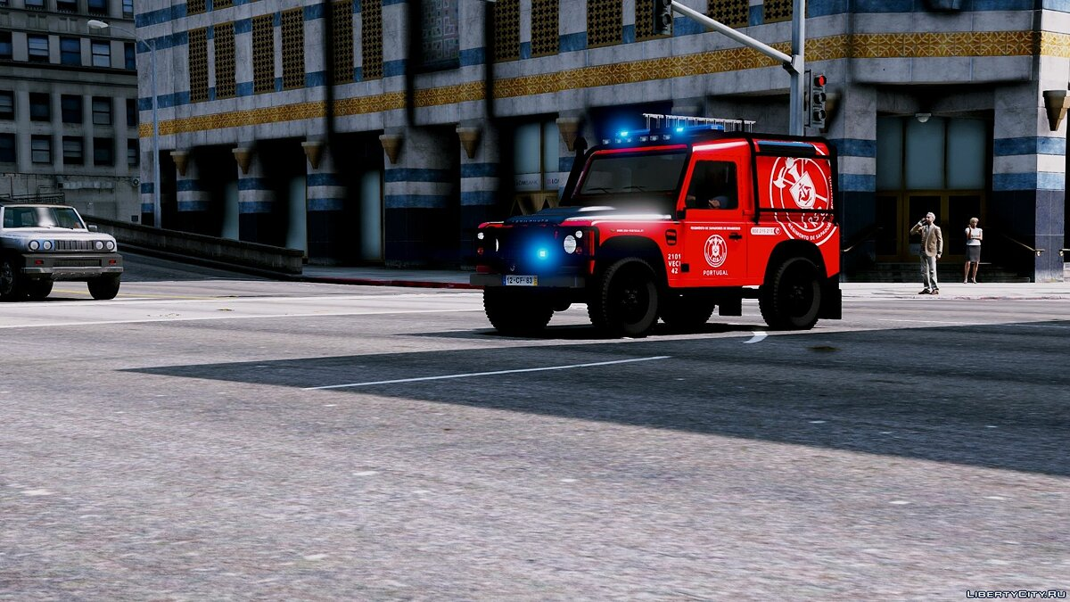 Portuguese Fire Bricade Regiment - VECI - Land Rover Defender [Add-On] 1.0 для GTA 5 - скриншот #7