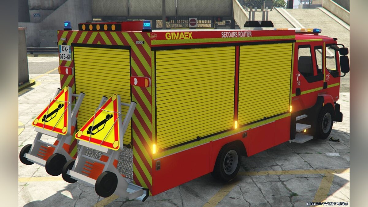 Машина Renault Midlum 300 - Fourgon de Secours Routiers [Add-On][ELS] 1.0 для GTA 5