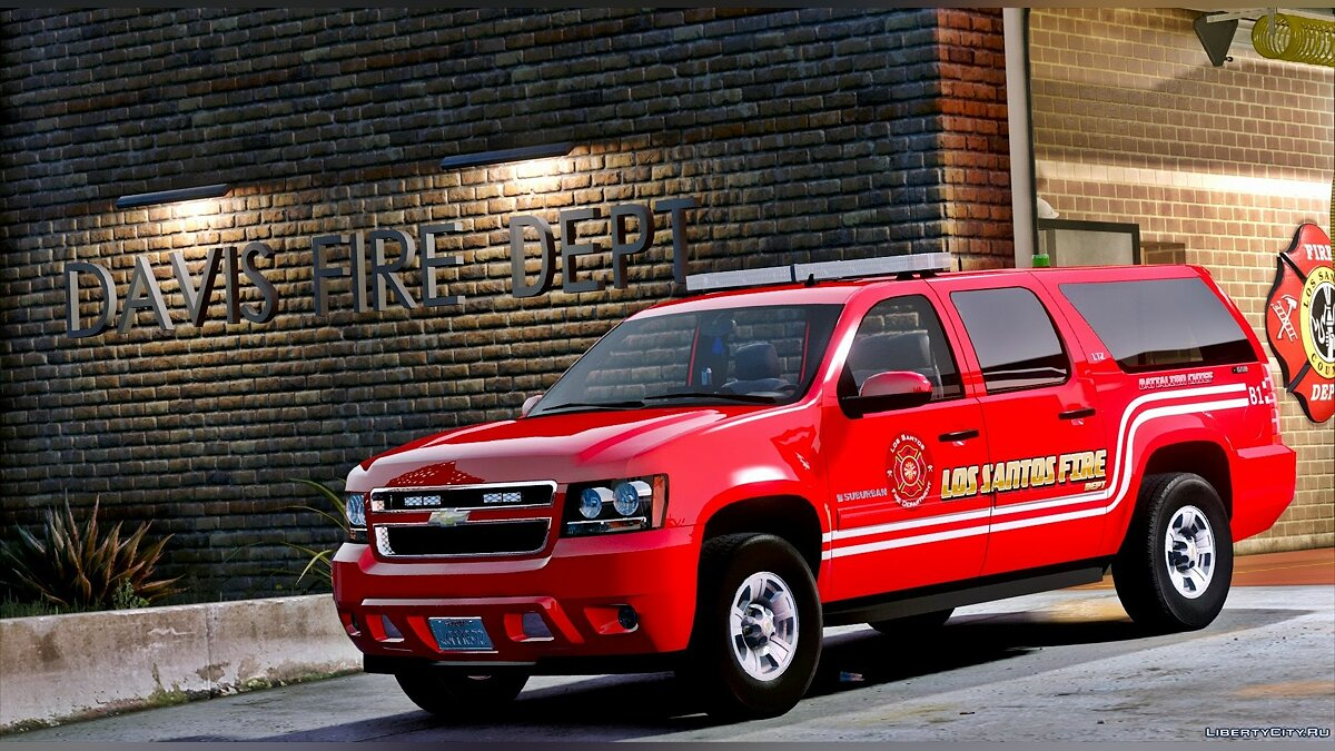 Los Santos Fire Department Chevrolet Suburban [ELS] для GTA 5