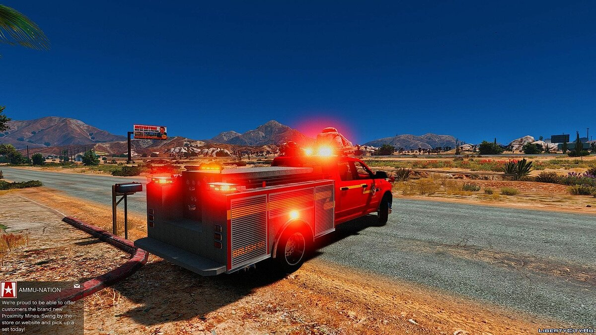 2015 Dodge Ram 3500 Brush Truck 1.0 для GTA 5 - скриншот #3