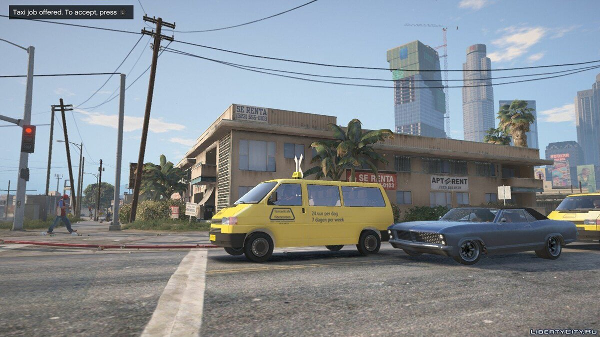 ��ашина Volkswagen T4 Taxi [REPLACE] [Dutch] 1.0 для GTA 5
