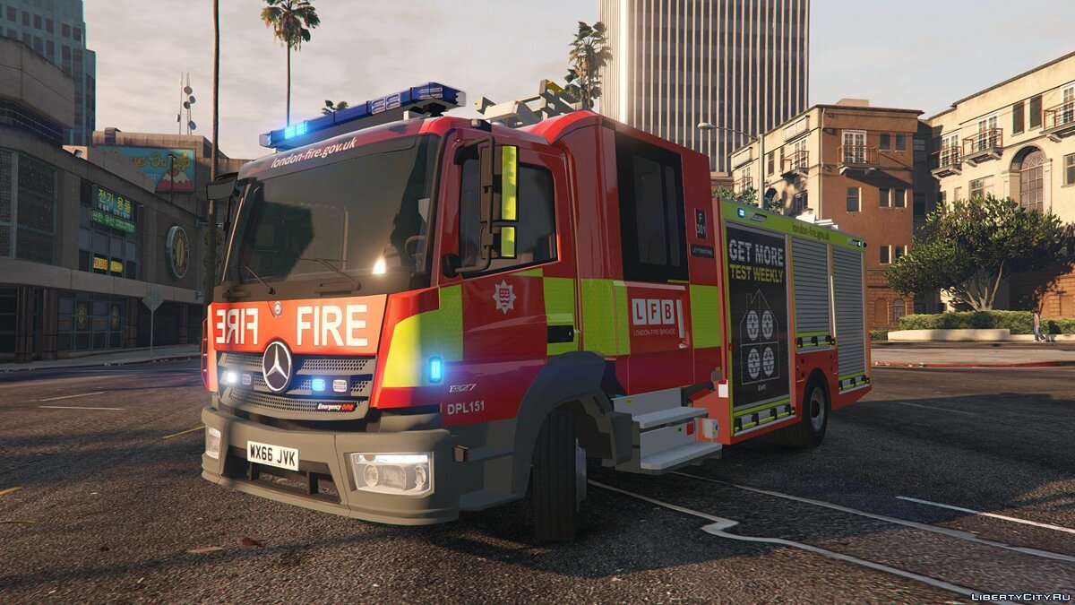 ��ашина 2017 London Fire Brigade Appliance [ELS] 1.0 для GTA 5