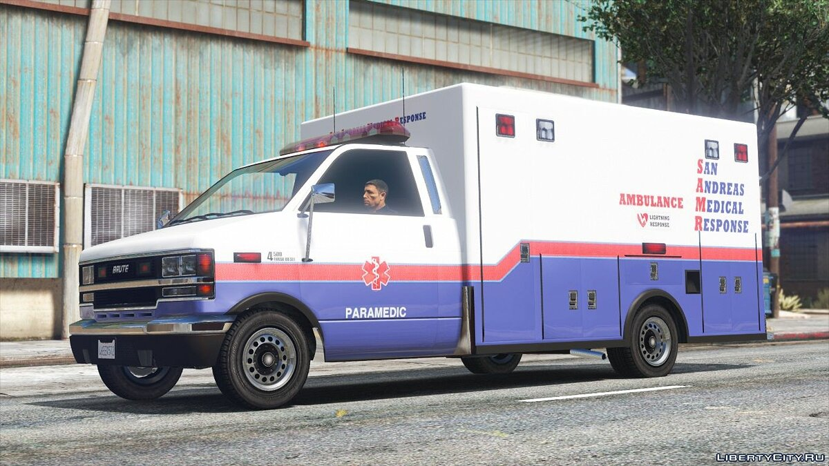 Машина Brute Ambulance - Mapped [Replace] 1.0 для GTA 5