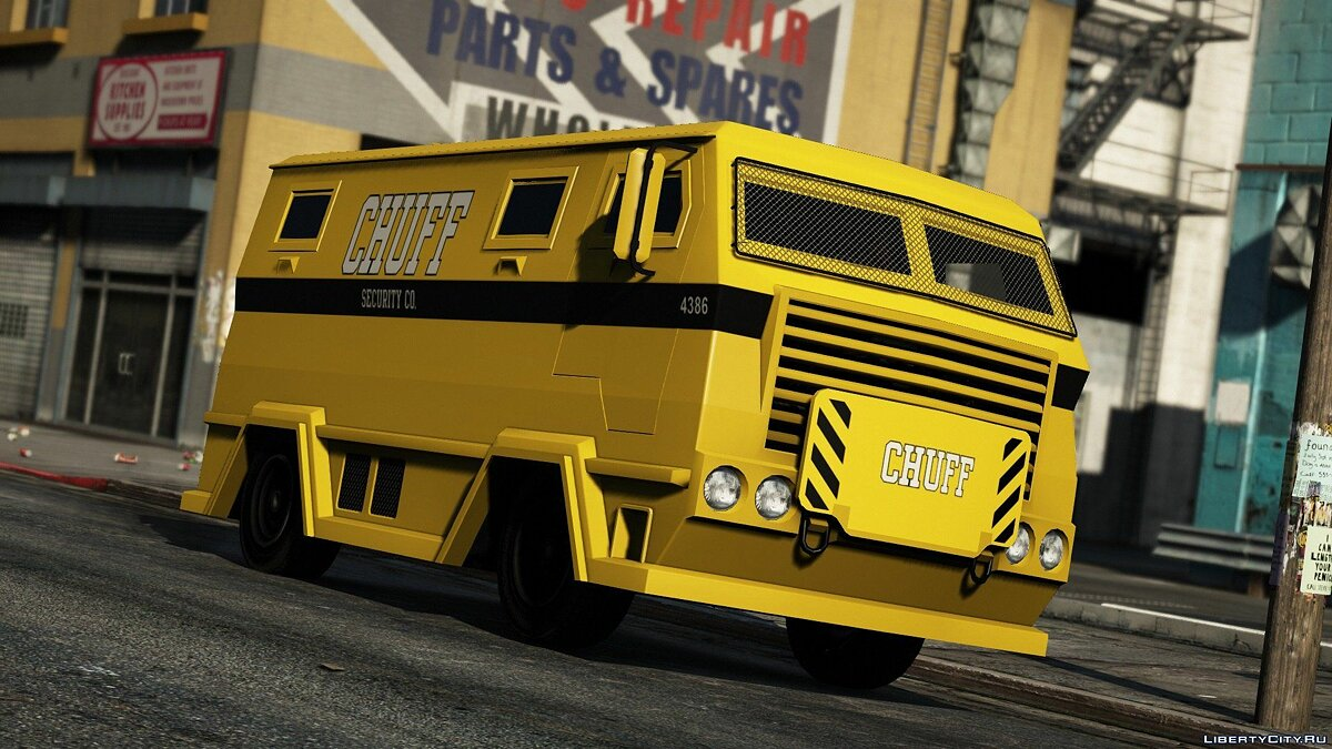 Машина Chuff Security Livery for HVY Brickade [Add-On | Livery] v1 для GTA 5