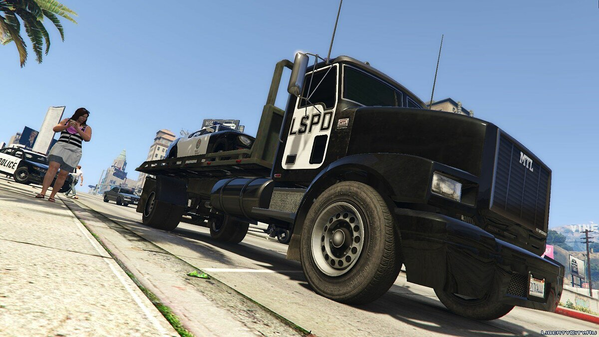 MTL Flatbed Tow Truck [Add-On/OIV | Liveries | Template] 5.0 для GTA 5 - скриншот #8