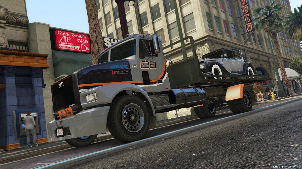 Машина MTL Flatbed Tow Truck [Add-On/OIV | Wipers | Liveries | Template] 4.0 для GTA 5