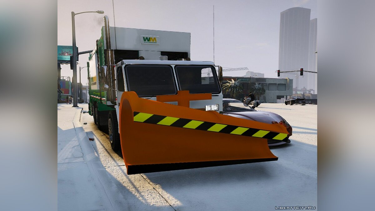 Garbage Truck w/ Snow Plow [ELS/MAPPED] [TEMPLATE] [Multi-Livery Capable] 1.00 для GTA 5