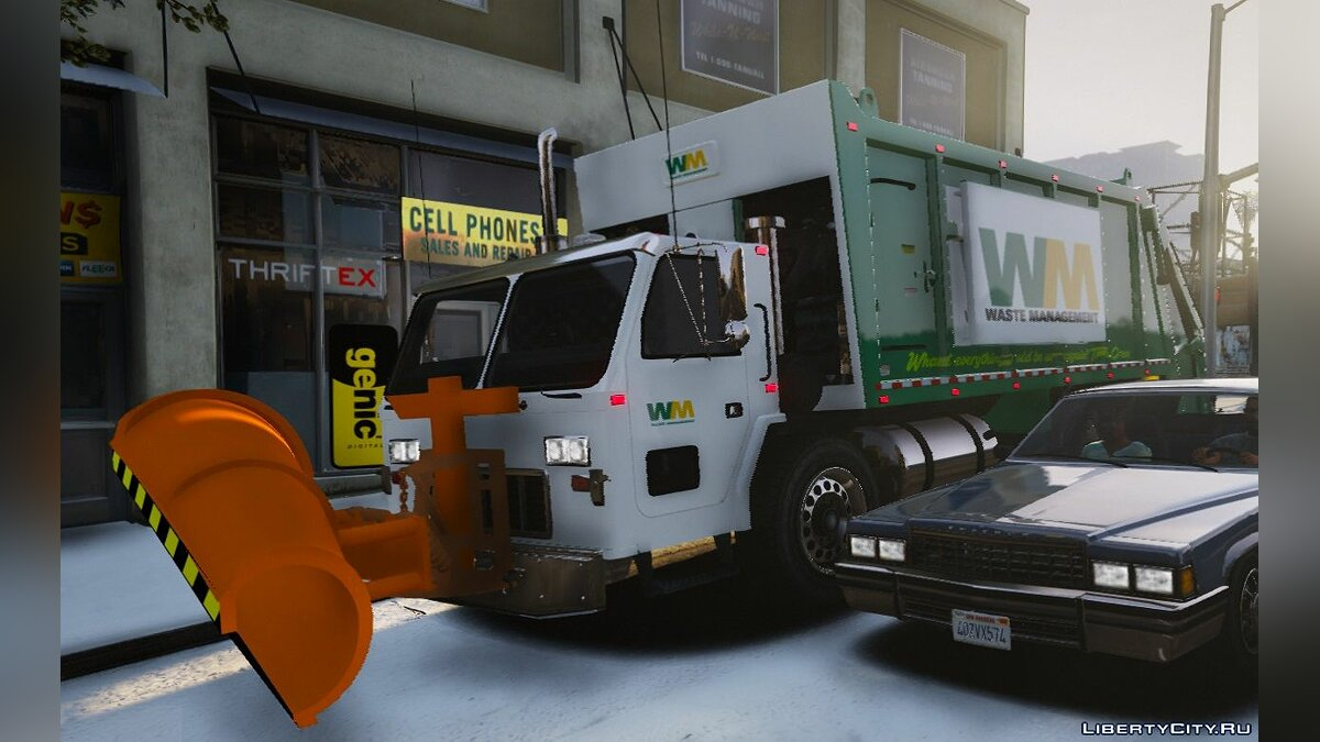 Garbage Truck w/ Snow Plow [ELS/MAPPED] [TEMPLATE] [Multi-Livery Capable] 1.00 для GTA 5 - скриншот #2
