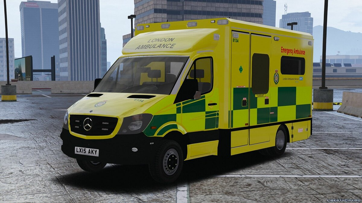 Машина 2015 London Ambulance [ELS] 1.0 для GTA 5